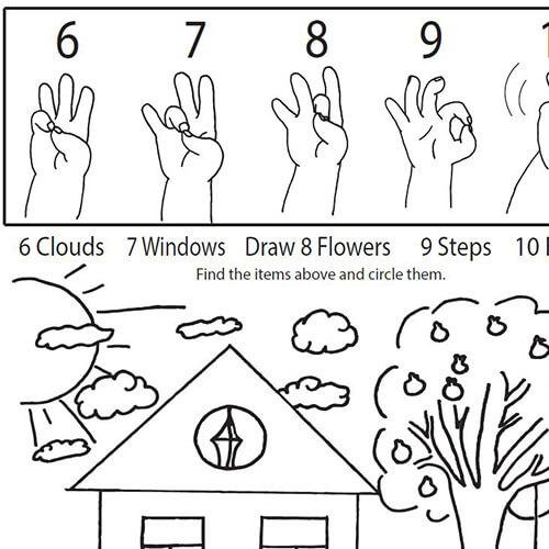 Coloring Sheet - 6-10