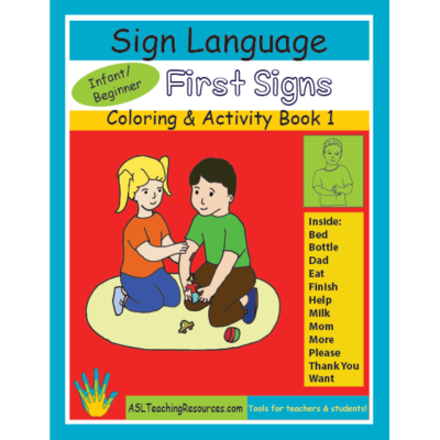 1-CB-First-Signs ASL Coloring Book