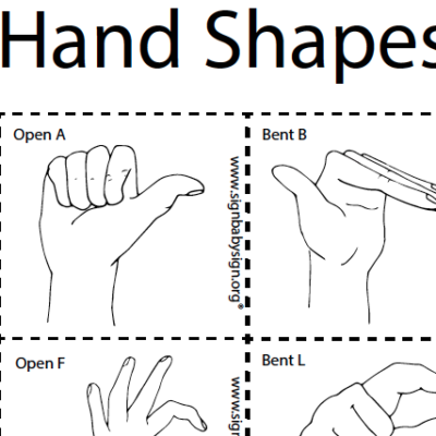 Hand Shapes Flash Cards preview