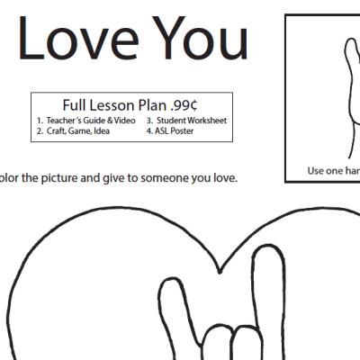 I Love You WS ASL Screen