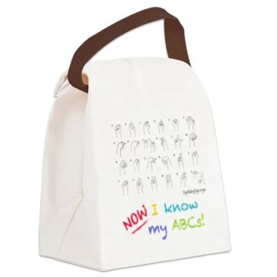 Now I know my ABCs kids lunch bag