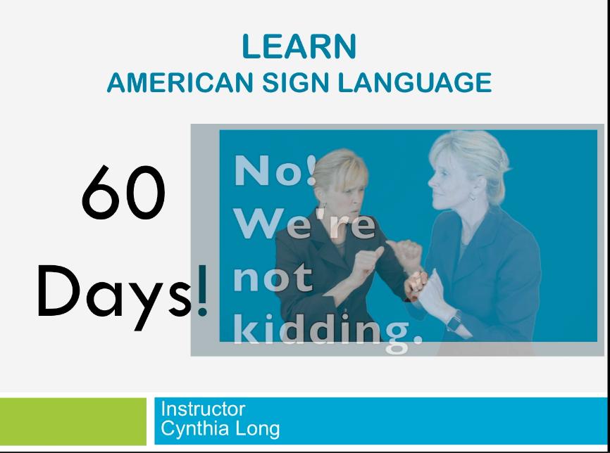 ASL Course Class