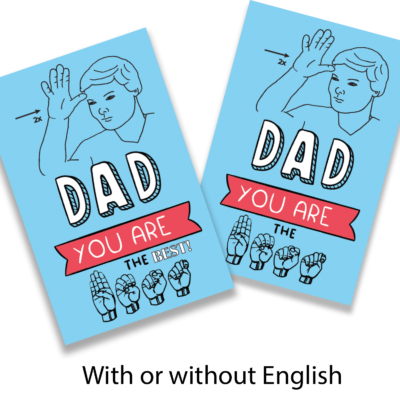 GC-Dad-Your-Are-the-Best Sign Language