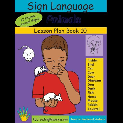 10-LPB-Animals ASL Lesson Plan Book