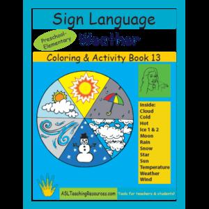 13-CB-Weather ASL Coloring Book