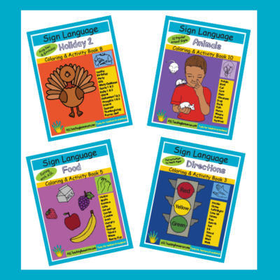 ASL Coloring Activity Books