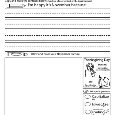 Writing I'm Happy-November ASL Sample