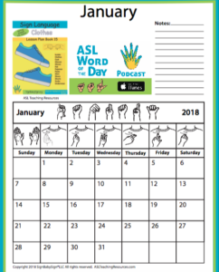 January 2018 Sign Language Sample