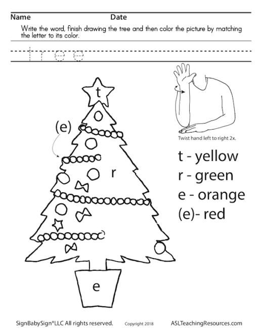 Phonics Christmas sign language sample 1