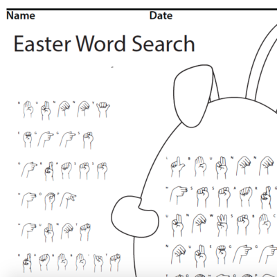 Easter Sign Language Word Search screen shot 1