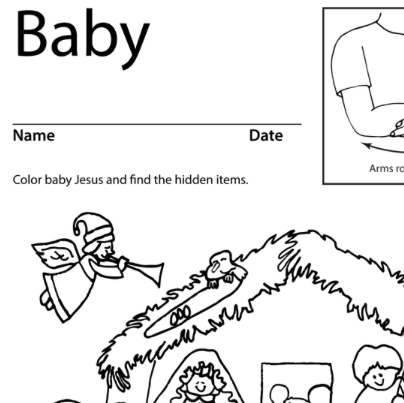 Baby Nativity Lesson Plan Screenshot