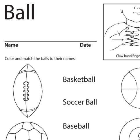 Ball Lesson Plan Screenshot