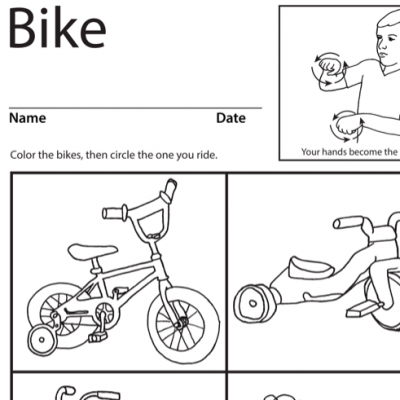 Bike Lesson Plan Screenshot Sign Language
