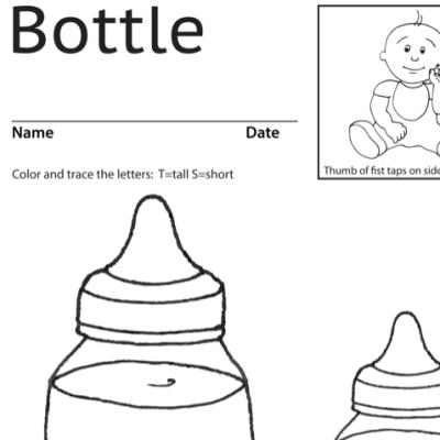 Bottle Lesson Plan Screenshot Sign Language
