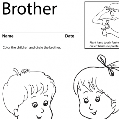 Brother Lesson Plan Screenshot Sign Language