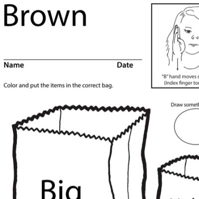 Brown Lesson Plan Screenshot Sign Language