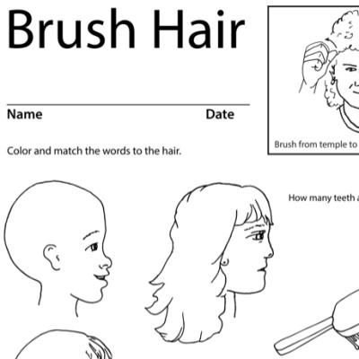 Brush Hair Lesson Plan Screenshot Sign Language
