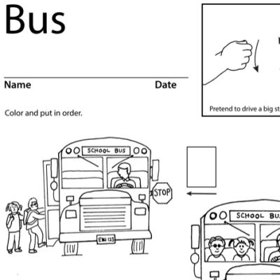 Bus Lesson Plan Screenshot Sign Language