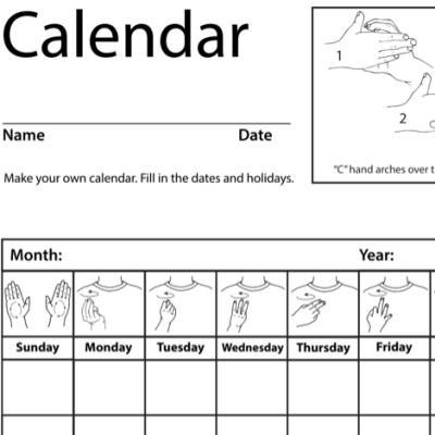 Calendar Lesson Plan Screenshot Sign Language