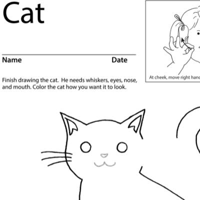 Cat Lesson Plan Screenshot Sign Language