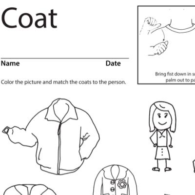 Coat Lesson Plan Screenshot Sign Language