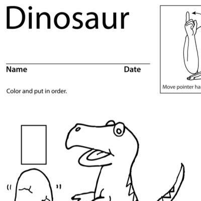 Dinosaur Lesson Plan Screenshot Sign Language