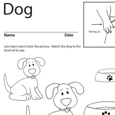 Dog Lesson Plan Screenshot Sign Language