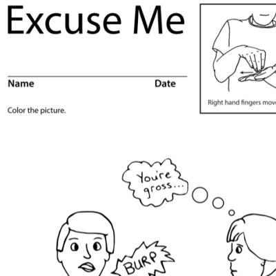 Excuse Me Lesson Plan Screenshot Sign Language