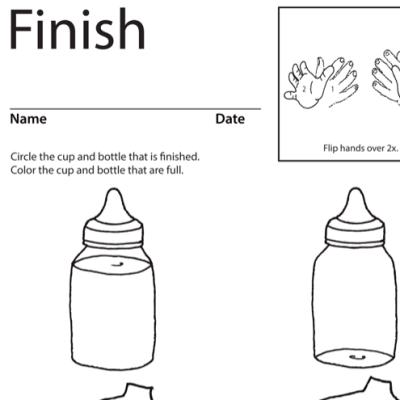 Finish Lesson Plan Screenshot Sign Language