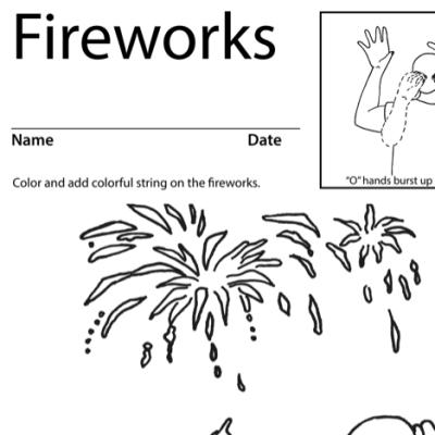 Fireworks Lesson Plan Screenshot Sign Language