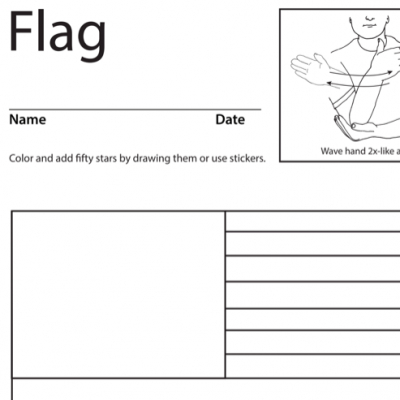 Flag Lesson Plan Screenshot Sign Language