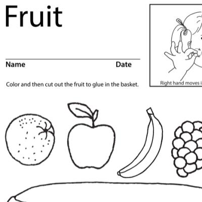 Fruit Lesson Plan Screenshot Sign Language