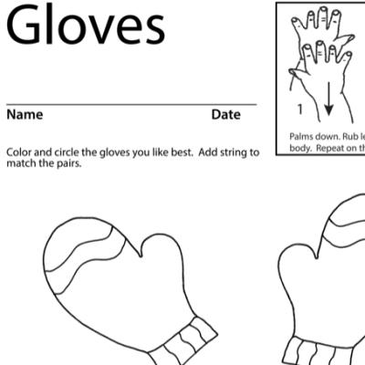 Gloves Lesson Plan Screenshot Sign Language