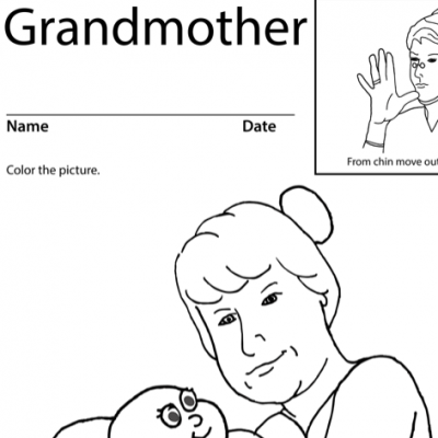 Grandmother Lesson Plan Screenshot Sign Language