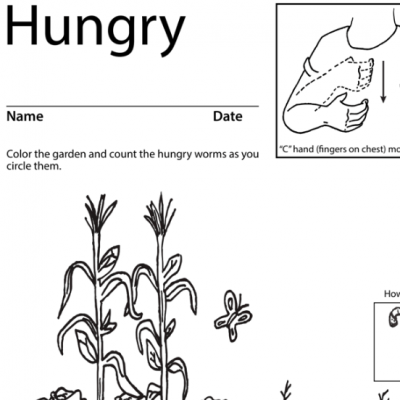 Hungry Lesson Plan Screen Shot Sign Language