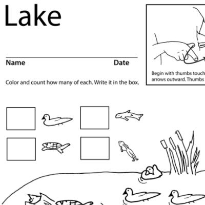 Lake Lesson Plan Screen Shot Sign Language
