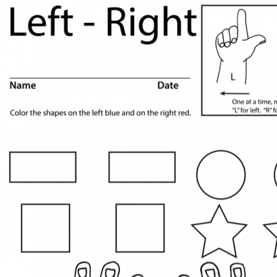 Left Right Lesson Plan Screen Shot Sign Language