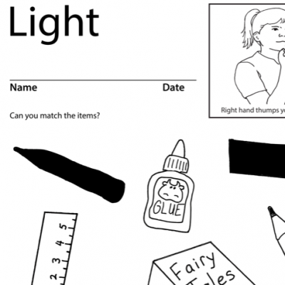 Light Lesson Plan Screen Shot Sign Language