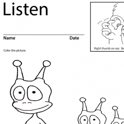Listen Lesson Plan Screen Shot Sign Language