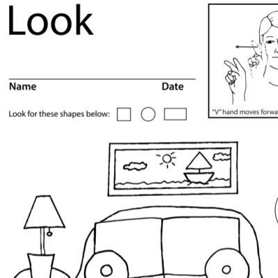 Look Lesson Plan Screen Shot Sign Language
