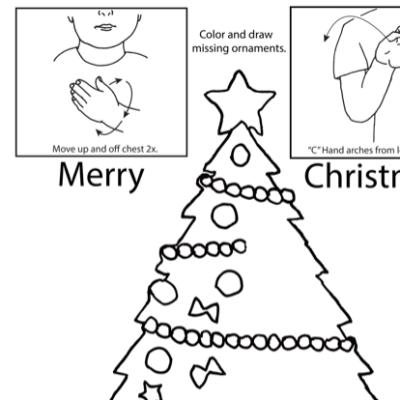 Merry Christmas Lesson Plan Screenshot Sign Language