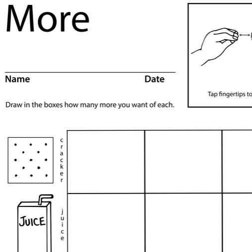 More Lesson Plan Screenshot Sign Language