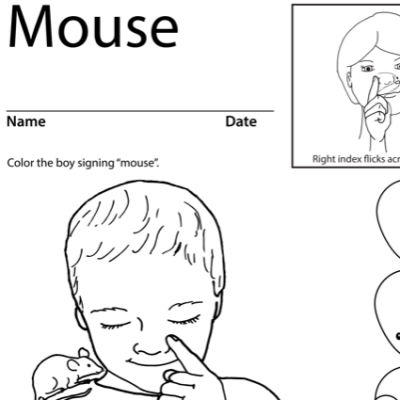 Mouse Lesson Plan Screenshot Sign Language