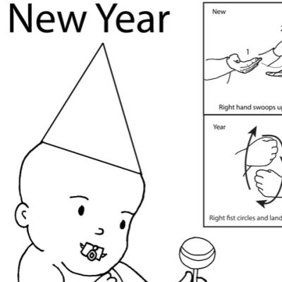 New Year Lesson Plan Screenshot Sign Language