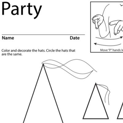 Party Lesson Plan Screenshot Sign Language