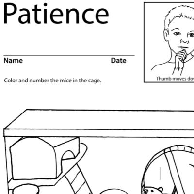 Patience Lesson Plan Screenshot Sign Language