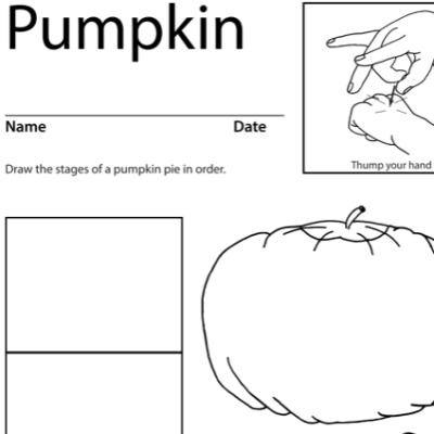 Pumpkin (thanksgiving) Lesson Plan Screenshot Sign Language