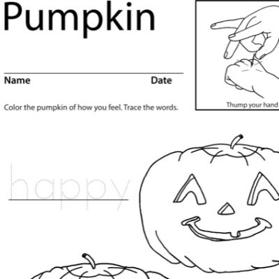 Pumpkin Lesson Plan Screenshot Sign Language