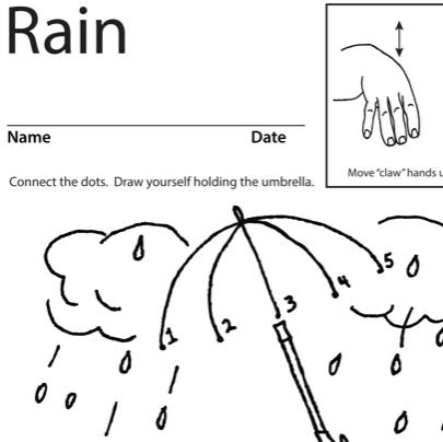Rain Lesson Plan Screenshot Sign Language
