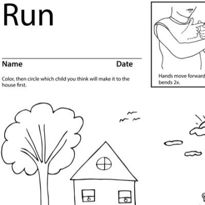 Run Lesson Plan Screenshot Sign Language
